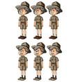 old men in safari clothes vector image