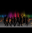 party crowd on graphic equaliser design vector image vector image