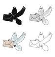 post pigeonmail and postman single icon in vector image vector image