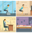 Posture 2x2 Design Concept vector image