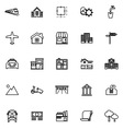 Real estate line icons on white background vector image vector image
