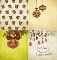 Retro Christmas Background Set