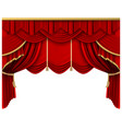 retro red stage curtain realistic luxury silk vector image vector image