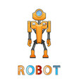 robot new technology poster vector image vector image