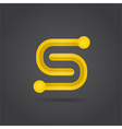 S letter system symbol vector image vector image