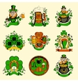 Set of nine pictures for St Patricks Day vector image vector image