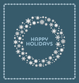 Snowflake wreath happy holidays background vector image vector image