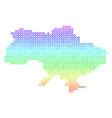 spectrum ukraine map with crimea vector image vector image