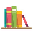 stack books textbook for university library vector image vector image