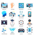 technologies of future icons set vector image vector image