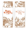 Thanksgiving day sketched retro greeting banners vector image vector image