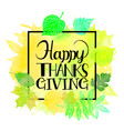thanksgiving watercolor background vector image vector image