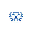 trophy with wreath line icon concept trophy with vector image vector image