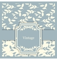 vintage invitation card with floral vector image vector image