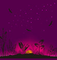 wildlife the background vector image