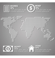 World infographic design vector image vector image