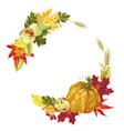 wreath decor element for harvest season vector image vector image