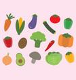 veggies time vector image
