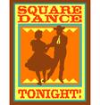 Square dance tonight poster