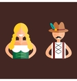 Oktoberfest man and woman vector image