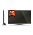 4k tv screen ultra hd resolution format vector image vector image