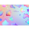 abstract liquid flow background fluid vector image