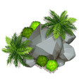 an isolated nature rock vector image vector image