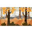 autumn landscape trees and fall leaves vector image