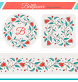 bellflower floral elements wedding design vector image