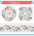 bellflower floral elements wedding design vector image vector image