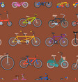 bike sport bicycles transport style old vector image