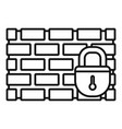 brick firewall icon outline style vector image vector image