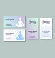 business card templates for yoga studio vector image