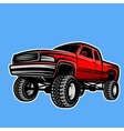 car truck 4x4 pickup off-road vector image
