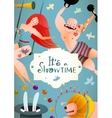 circus carnival show vintage billboard poster vector image