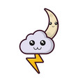 cloud and thunder icon vector image vector image