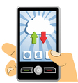 Cloud computing mobile device vector image vector image
