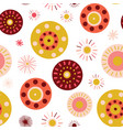 collage style circles seamless background vector image vector image