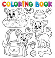 coloring book dog theme 8 vector image vector image