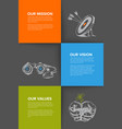 company profile template with mission vision and vector image vector image