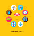 concept summer vibes vector image vector image
