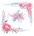Creative Romantic Floral Ornaments vector image vector image