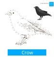 Crow bird learn to draw vector image