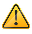 danger sign isolated on white background vector image vector image