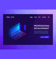 development software and programming vector image vector image