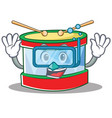 diving toy drum character cartoon vector image vector image