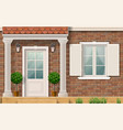 entrance to the house with columns vector image vector image