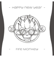 Fire Monkey One Black vector image vector image