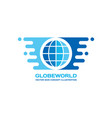 globe world - logo template concept vector image vector image