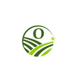 green project solution center initial o vector image vector image